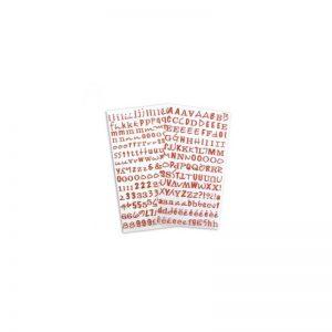 Alfabet Glitter vermell -STB11