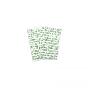 Alfabet Glitter verd -STB12