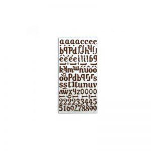 Alfabet feltre marró -STB02