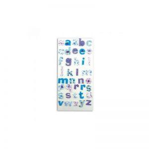 Alfabet tela malva/blau -STB05