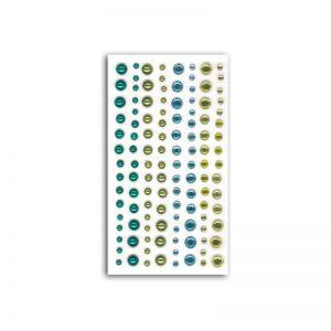 Strass i perles blau/verd -AF28