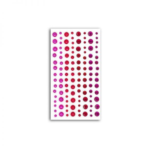 Strass i perles fuscia/vermell -AF29