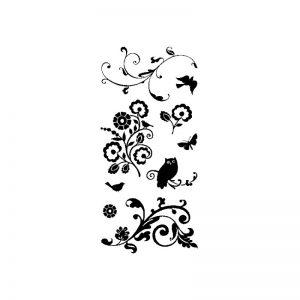 Segell acrilic flors i animals -97618