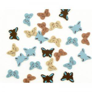 Fusta papallones xocolata/blau -UAMB52