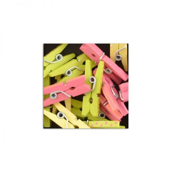 Mini pinces rosa/verd/groc -UAMB07