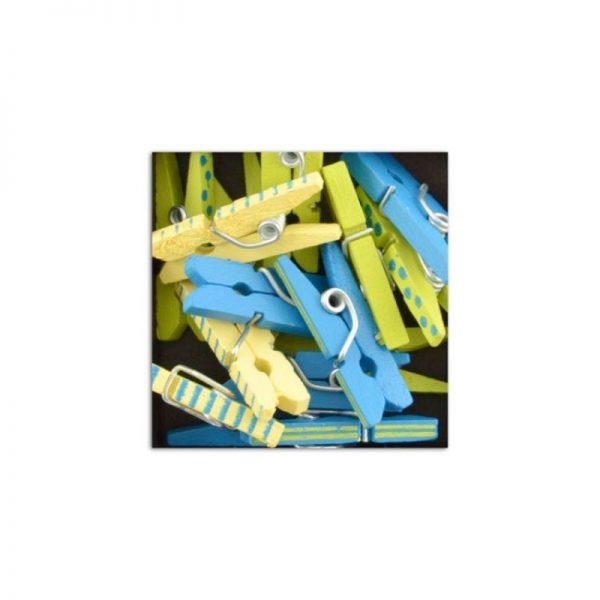 Mini pinces verd/groc/blau -UAMB08
