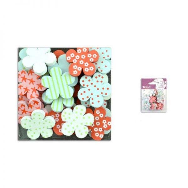 Fusta confetis rosa/blau/blanc -UAMB20