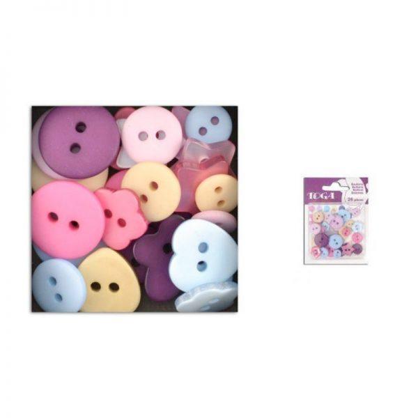 Botons lila/rosa/beige/blau -AE79