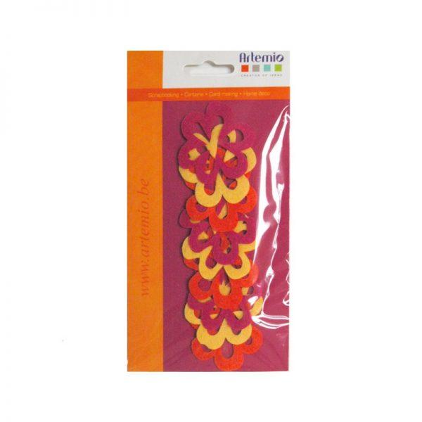 Feltre flors rosa/taronja/groc -FE86JOF