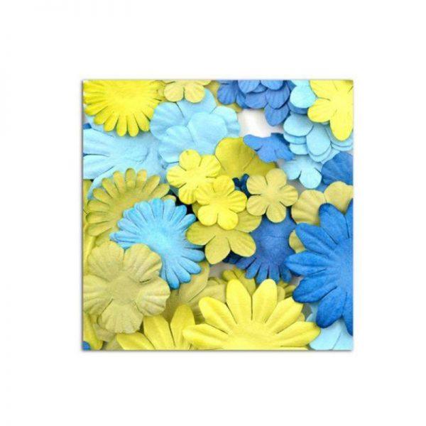 Flors mix blau-verd -AA26
