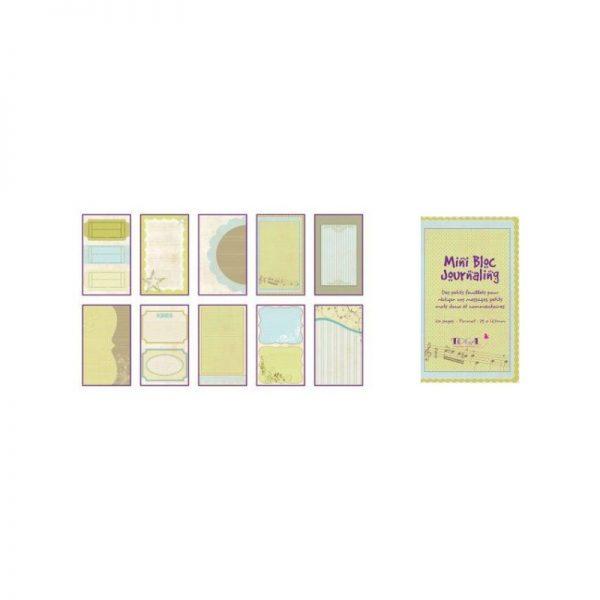 Mini bloc Journaling Verd/blau -PBJ02