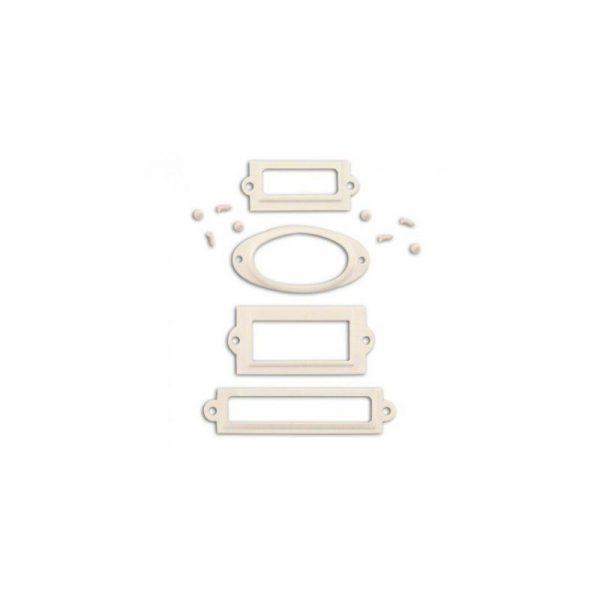 Porta etiquetes blanco - QC19