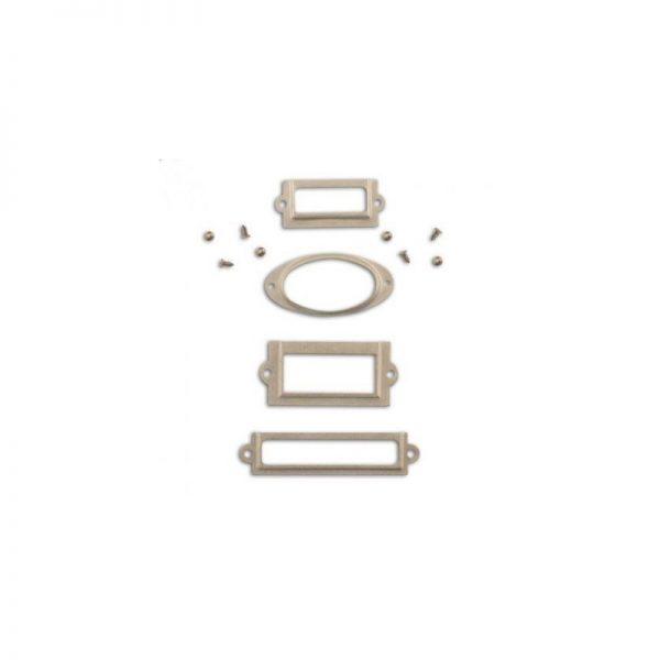 Porta etiquetes plata - QC29