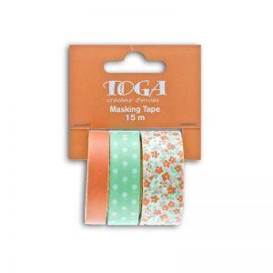 Masking Tape turquesa/salmó - MT95
