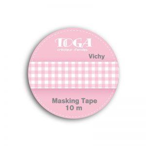 Masking Tape Vichy rosa - MT27